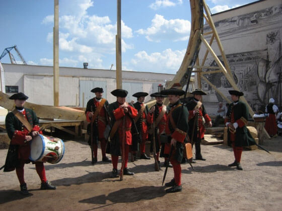 Внутри сборочного ангара Полтава - воссоздание эпохи