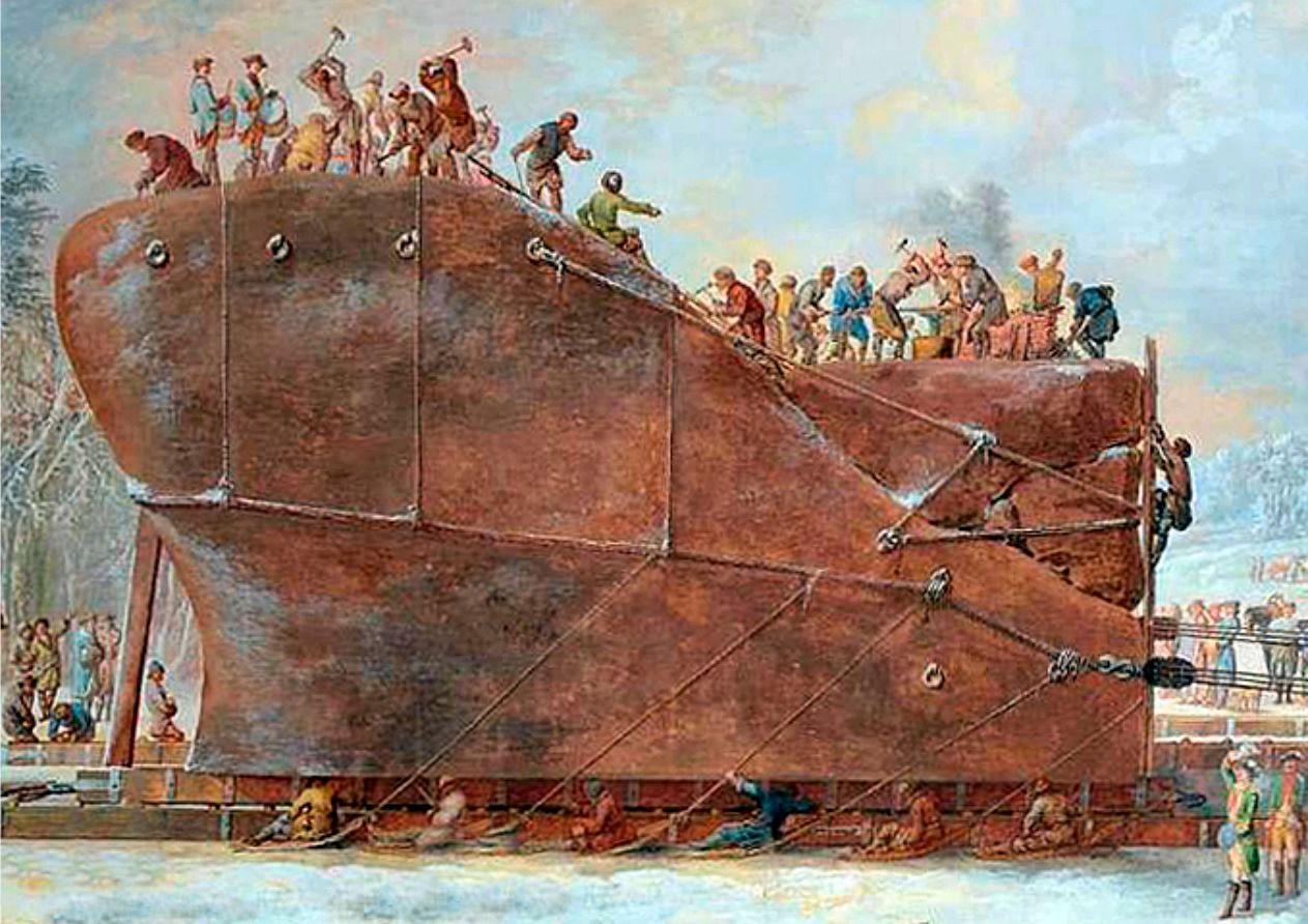 Картина художника Луи Бларамберга. История Гром-камня